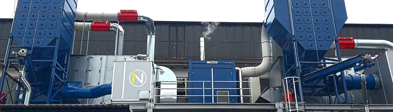 Absauganlage von INFRANORM® Absaugtechnik, Ölrauch Absauganlage.